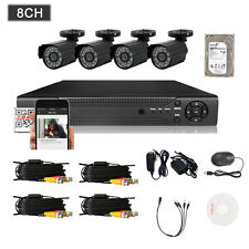 8CH 960H HDMI DVR Kit 800TVL Outdoor CCTV Home Security Camera System w/ 1TB HDD