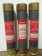 LOT OF 3 LITTELFUSE SLO-BLO FUSES 45 AMP  FLSR 45 ............... VE-226