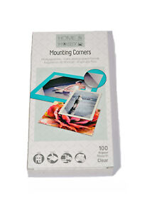 3L Mounting Corners Permanent Clear Self-Adhesive Photo Corners 75mm x 100 XXL