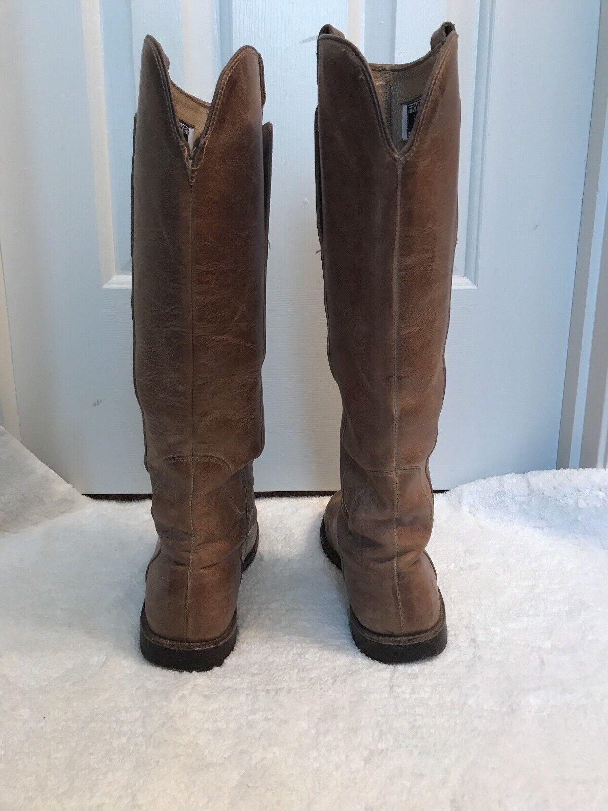 Frye Paige Tall de cuero para para para mujer botas de montar, bronceado, tamaño 7, MSRP  398 1325cf