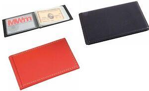 Porta carte di credito bancomat tessere 10 posti ecopelle 11x 6,5x1 cm 2 colori