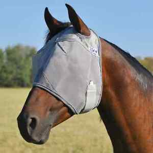CASHEL STANDARD FLY MASK for DRAFT LARGE HORSE WITH COVERS EARS sun protection