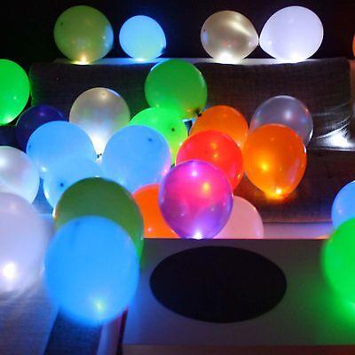 15 selbst leuchtende LED Luftballons Himmels Laterne Lichterkette Lampe Licht