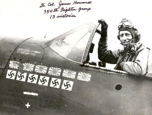 Col WW2 USAF Lt James Howard Fighter Pilot Picture
