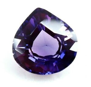 6.70 Ct Natural Sri Lanka Purple Pear Cut Sapphire CERTIFIED Loose Gemstone