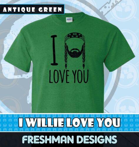 Willie Nelson T Shirt Free Shipping Shot Gun Willie I Willie Love You