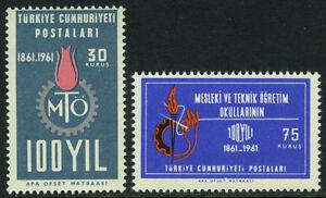Turkey-1521-1522-MI-1823-1824-MNH-Technical-amp-Professional-schools-cent-1961
