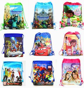 Monster High Big Hero Violetta Cartoon Bag Drawstring Backpack Kids ... cbd5d80896