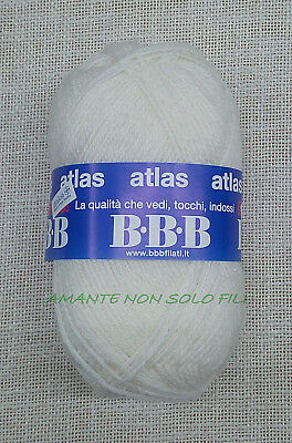 Gomitolo Lana da 50 grammi art ATLAS by BBB Filati 70/% lana // 30/% acrilico