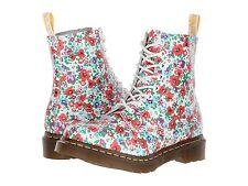 New Dr.Martens DOC Pascal White Floral Wildpoppy Women's Size: 8 US/ 6 UK/ 39 EU