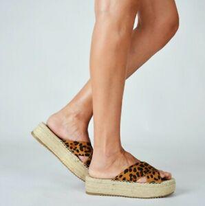 Detalles de Sandalias para Mujer con Plataforma Zuecos de Yute estilo Alpargata Verano