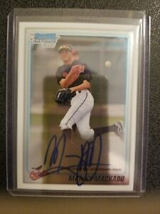 2010-Bowman-Chrome-Manny-Machado-RC-Rookie-AUTO-Padres