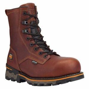 "TIMBERLAND PRO Men's 1112A214 8"" Boondock Brown Composite Toe Work Boot"