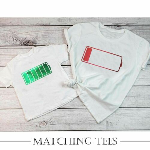 Mother /& Daughter Son Family Matching Casual T-shirt Tee Top Unisex Outfit Gift