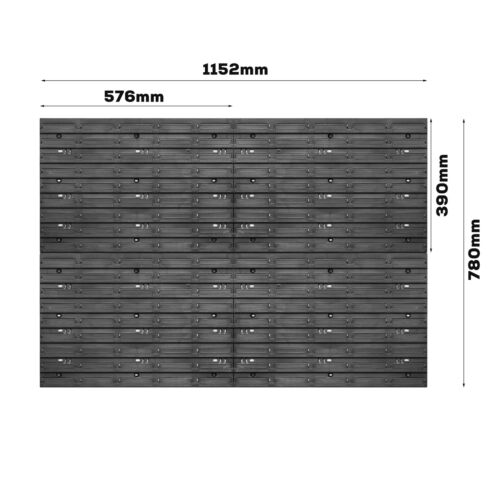 Lagersystem Wandregal 1152 x 780 mm Werkzeughalterungen Stapelboxen 44 stck