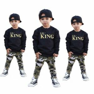 Fashion-Kids-Baby-Boys-Outfits-Clothes-T-shirt-Tops-Long-Pants-2PCS-Sets