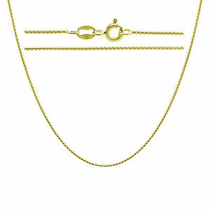 f08774ca0d2 Gold Plated .925 Sterling Silver Round Box Chain Necklace In 14 - 30 ...