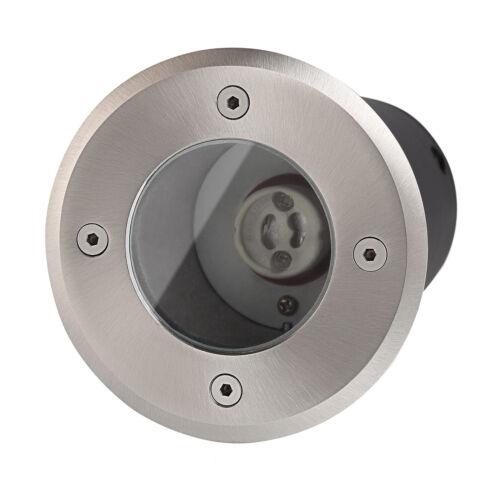 Bodeneinbaustrahler rund ohne Leuchtmittel LED Halogen Durchschleifbar IP67