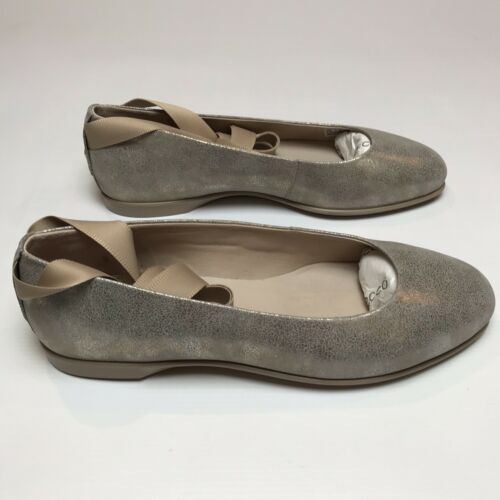 Leather Enchant 7 Ecco tobillo Correa Ladies 5 Incise Moon Ballet Rock del Uk 6 Flats qEE6Ztrx