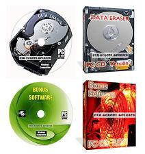 HARD Disc Drive formato dati elimina pulire Cancella distruggere + Data Recovery CD