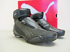 5e570278836 Puma Testastretta II - Size 6 US - Black Motorcycle Shoes - CLOSEOUT ...