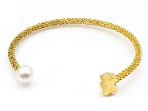 Acier inoxydable perle 3 mm simple maille Bear Bracelets Bracelets