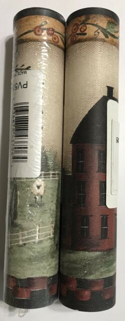 York Hunting Cabin Wallpaper Border  5 Yards 2 Rolls Green Band NV9607B R-65