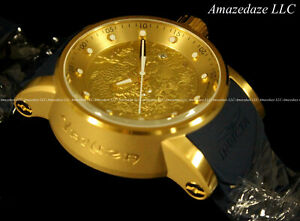 NEW-Invicta-Men-S1-Yakuza-Dragon-NH35A-Auto-18K-Gold-Plated-Stainless-Stee-Watch