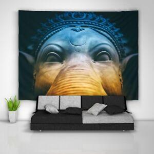 Ganesha-Elephant-Wandteppich-Kunst-Wandbehang-Tisch-Bettdecke-Wohnkultur