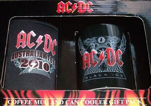 AC-DC-2PC-SET-GIFT-PACK-COFFEE-MUG-CAN-STUBBY-HOLDER-BLACK-ICE-New-AcDc