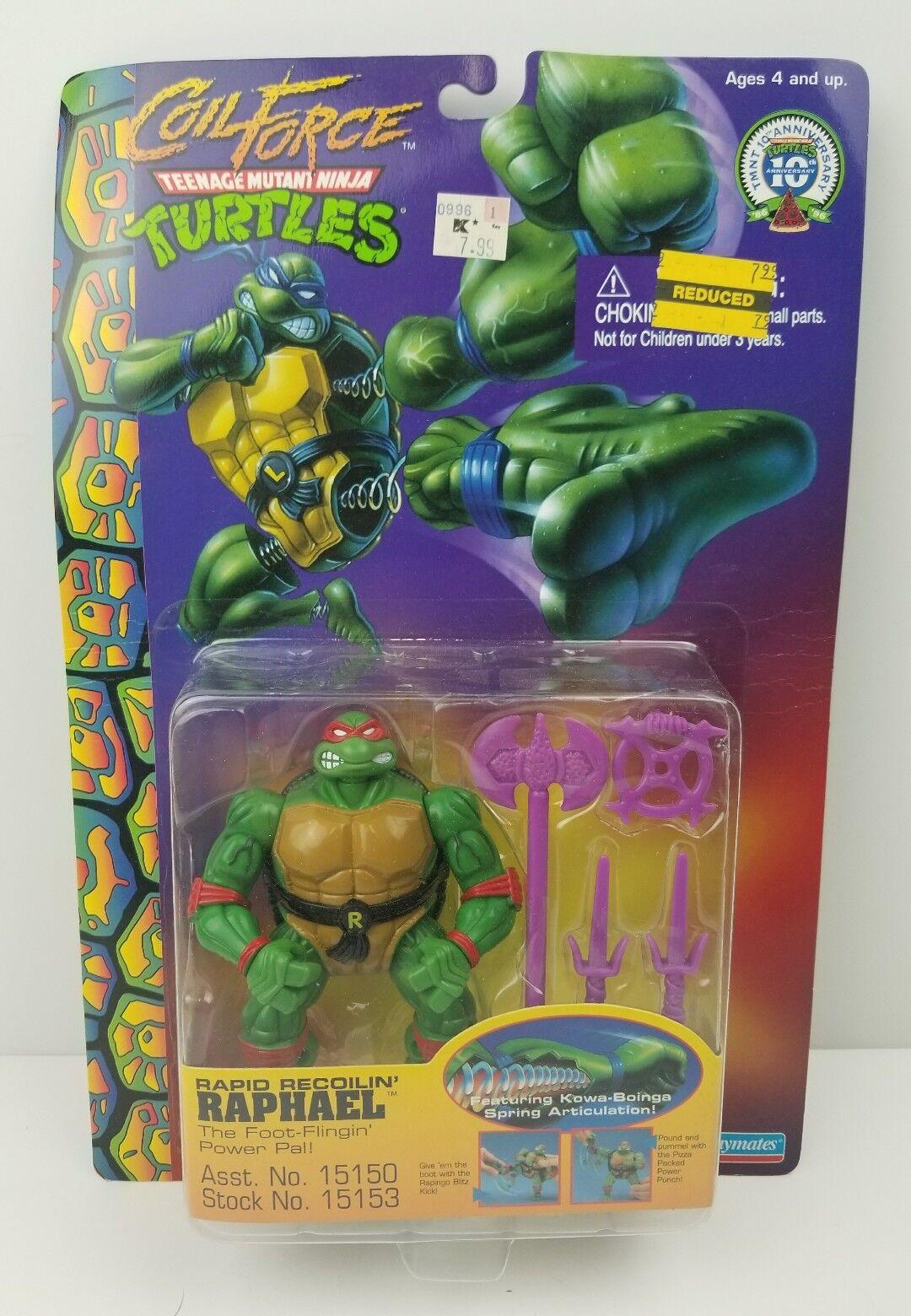 Teenage Mutant Ninja Turtles TMNT Coil Force Rapid Recoilin' Raphael Raph New