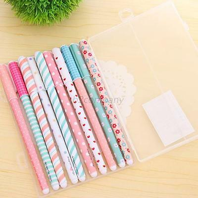 10pcs Colorful Gel Pen Office Accessories Pens Cute Student Gel Pen School B85