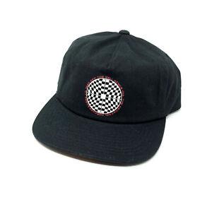 fb40972e76a5b Vans Black Hat Snapback OS Baseball Cap New NWT Adjustable Checker ...