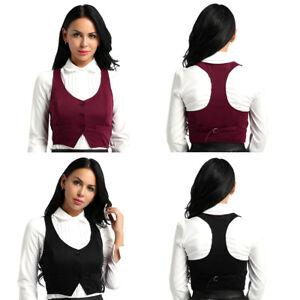 Damen Weste Anzug Slim Fit Kellnerweste Workwear Business Beiläufige Waistcoat