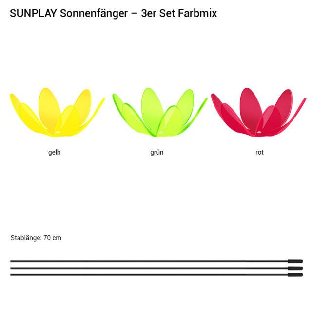 Gartenstecker versch Farben SUNPLAY Sonnenfänger Ø15cm Sets Suncatcher