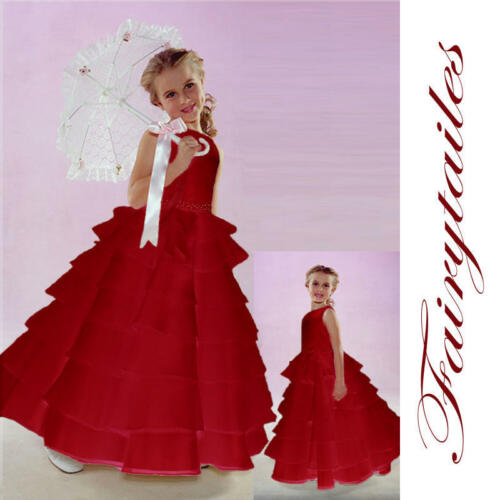 NWT New Baby Flower Girl Red  Wedding Dress 24 Months