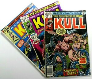 MARVEL-Comics-KULL-THE-DESTROYER-1971-20-22-29-Bronze-Age-LOT-Ships-FREE