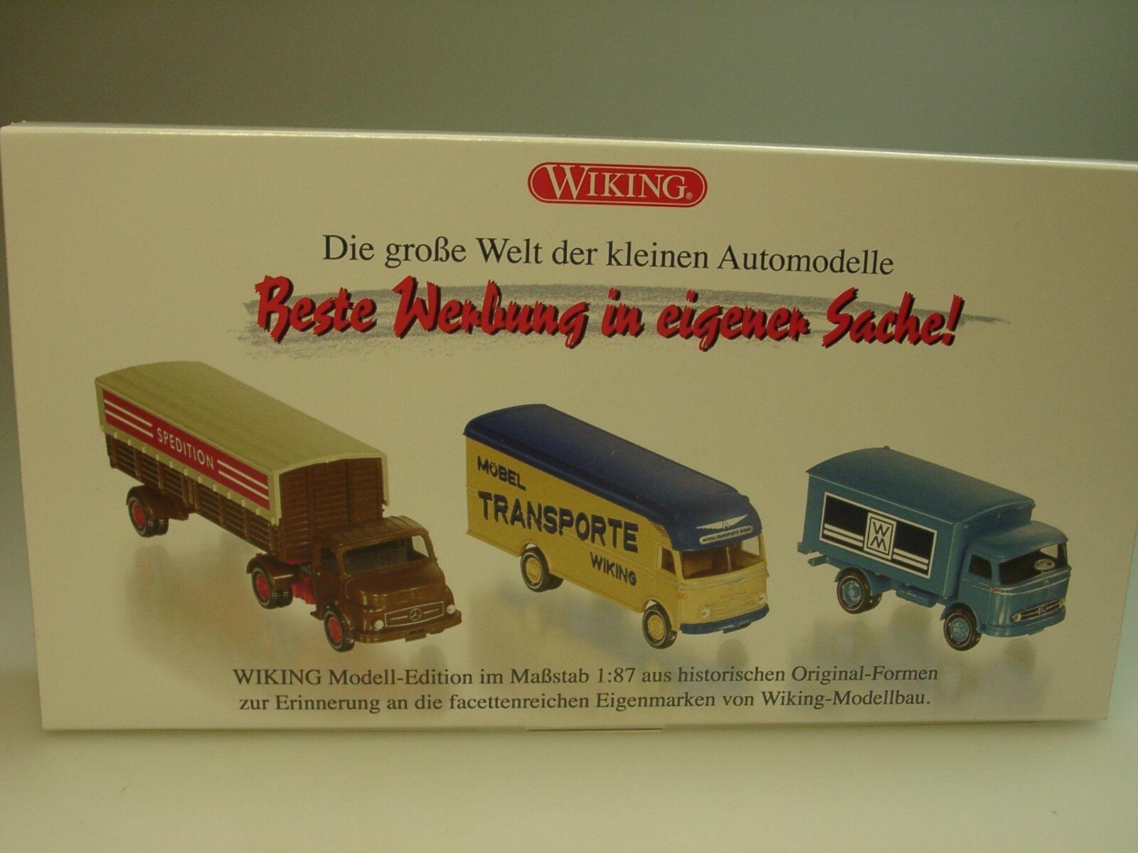 Wiking mercedes set  publicité sous sa propre affaire  - 0990 90 - 1 87