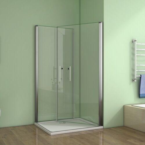 100x80x195cm Duschkabine Schwingtür Duschabtrennung Nano-glas Duschwand Dusche