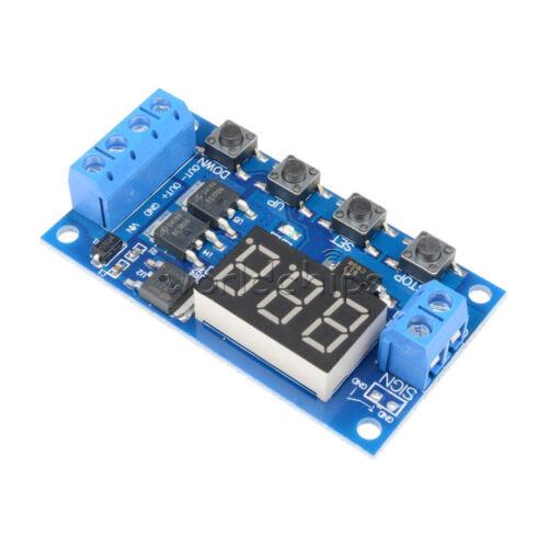 Relé de retardo de control 5-36 V MOS de doble ciclo de gatillo tiempo 12 V 24 V Interruptor de encendido/apagado
