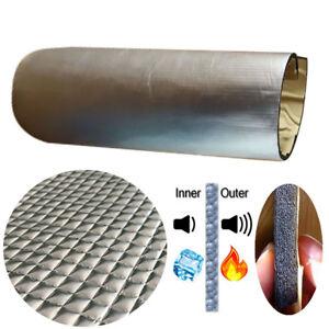 1x0.5m Aluminum Car Hood Heat Insulation Firewall Sheets Soundproofing PE Foam
