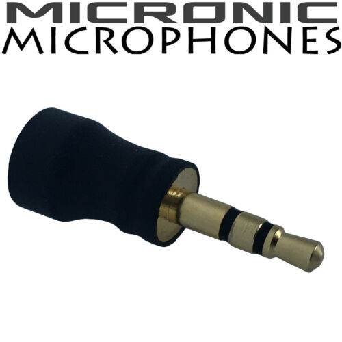 VERY SENSITIVE SUB MINIATURE MICROPHONE FOR LAPTOP /& SOUND RECORDER 3.5mm STEREO