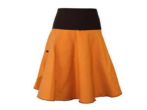 online store 11e3a a6d10 Jeansrock Midi Braun Curry Rock Damen Lagenlook Boho ...