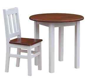 Runder Kiefertisch Esstisch Holz Küchentisch Massiv Weiß