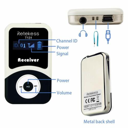 Retekess Wireless Tour Guide System 99CH Transmitter+Receiver Church Translation