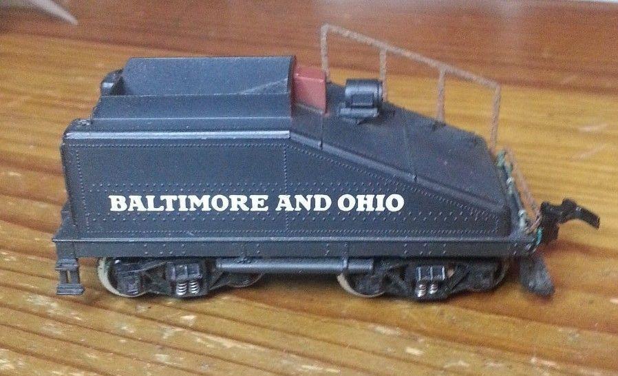Rivarossi Baltimore e Ohio TENDER autoBONE AUTO 4268 Nero SCALA HO 8 RUOTE PICCOLO