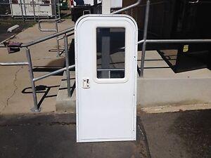 Rv entry door with built in screen door custom sizes - Exterior door with screen built in ...