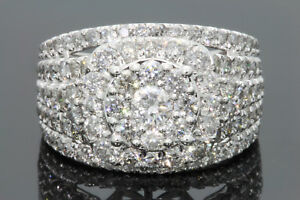 14K WHITE GOLD 3 25 CARAT WOMEN REAL DIAMOND BRIDAL WEDDING RING ENGAGEMENT  RING