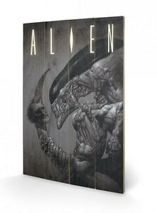 Aliens-Holzdruck-Head-On-Tail-40-x-60-cm-NEU-amp-OVP