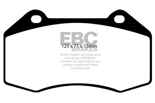 207HP EBC Ultimax Front Brake Pads Vauxhall Corsa D 1.6 Turbo VXR 2011 /> 14